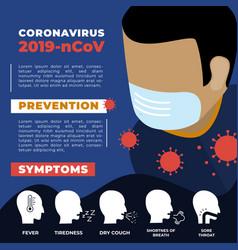 corona virus flyer education template infographics vector image