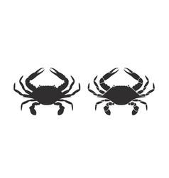 Crab silhouette vector