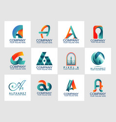design template with abstract logo modern style vector image