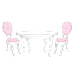 Dining set dining table and chairs vector