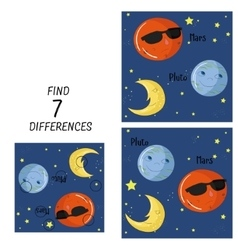 Educational game for children find differences vector