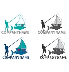 Fishing boat logo vector
