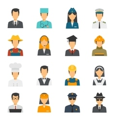 Flat Avatar Profession Set vector image
