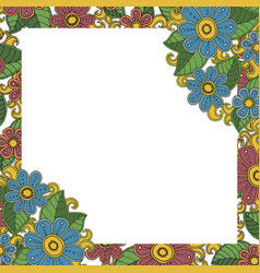 floral frame for photos vector image