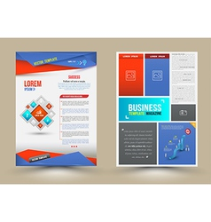 Flyer Brochure Design Templates vector image