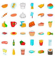 fridge icons set cartoon style vector image