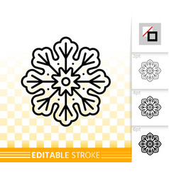gingerbread cookie snowflake line icon vector image