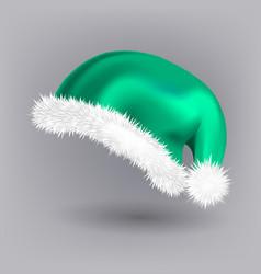 green santa hat party icon head vector image