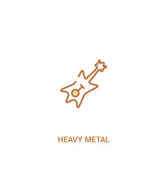 Heavy metal concept 2 colored icon simple line vector