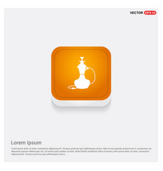 hookah icon orange abstract web button vector image