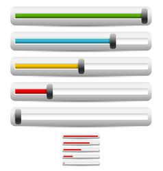 horizontal sliders adjusters bars vector image