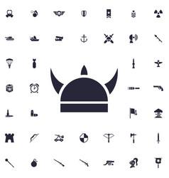 Horn helmet icon vector