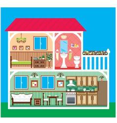 House in a cut vector