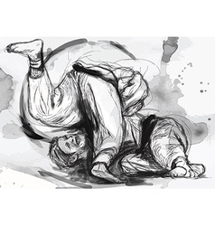 Judo - hand drawn converted into vector