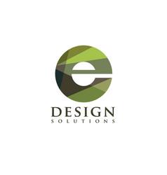 letter e colorful logo concept vector image