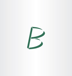 Logo logotype green letter b design vector