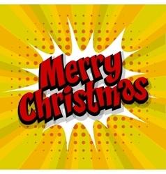 Merry Christmas yellow background vector image
