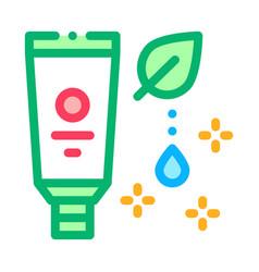 Nutritious cream icon outline vector