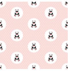 panda baby pattern seamless vector image