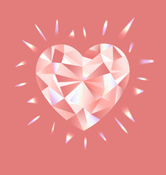 pink diamond with rainbow vector image