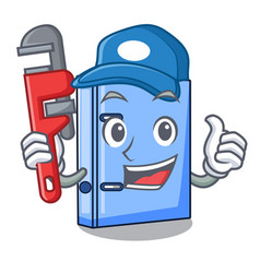 Plumber office binder file isolated on cartoon vector