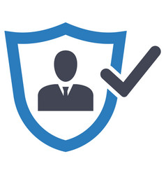Protection insurance safety security icon vector