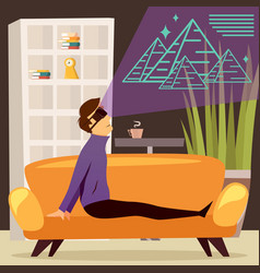 Pyramids virtual reality orthogonal composition vector