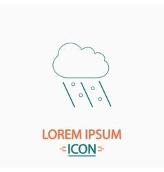 Rain computer symbol vector