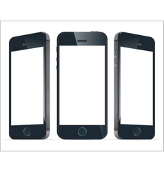 Realistic blue mobile phones image vector image