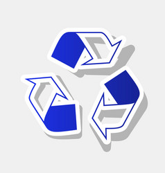 Recycle logo concept new year bluish icon vector