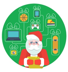 Santa Claus with Wishlist vector image
