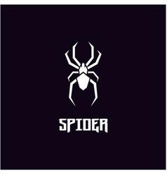 silhouette spider insect arthropod symbol logo vector image