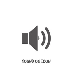 Sound on icon simple flat style vector
