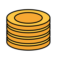 stack coins money vector image