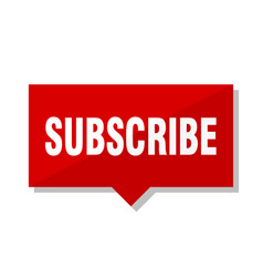 Subscribe red tag vector