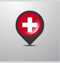Switzerland map pin vector