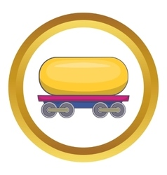 Tank car for gasoline icon vector
