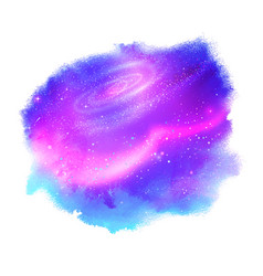 watercolor stain with glowing outer space vector image