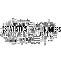 web analytics make a plan and stick to it text vector image
