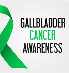 World gallbladder cancer day awareness poster vector