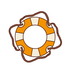 aged flotation hoop with cord vector image vector image