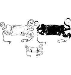 banner stencil vector image