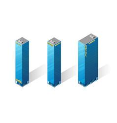 Isometric skyscrapers icons vector