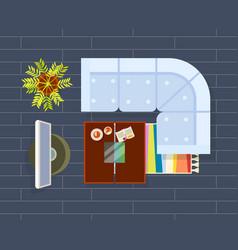 living room planning dark vector image vector image