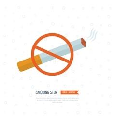 No Smoking Sign Cigarette sign vector image vector image