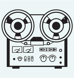 Reel tape recorder vector image