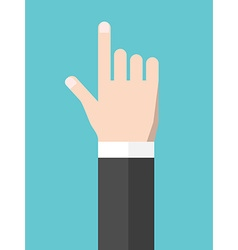 Touching hand flat style vector image vector image