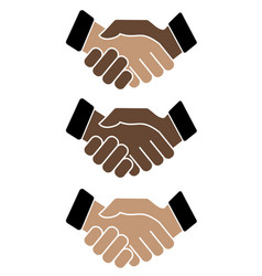 Business handshake icon on white background vector