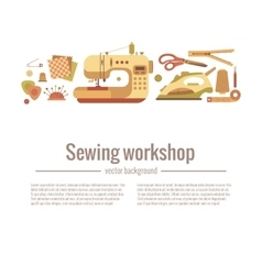 colorful sewing workshop concept vector image