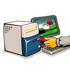 Loading computer vector